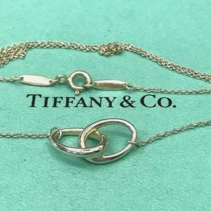 Tiffany & Co. Sterling Silver 925 Double Circles